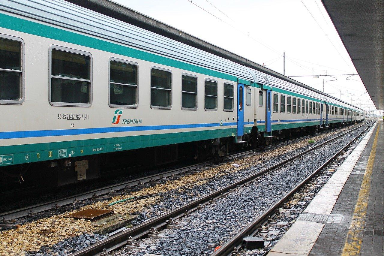 Inter-city train in Italy