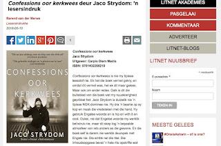 Confessions oor kerkwees deur Jaco Strydom: 'n lesersindruk Barend van der Merwe