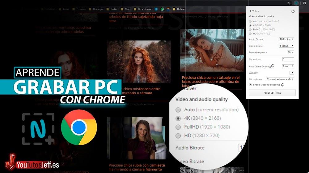 Como Grabar la Pantalla de mi PC Usando Google Chrome
