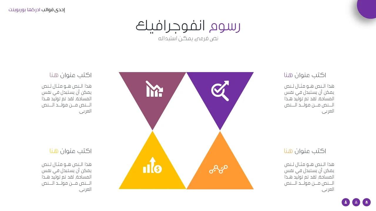 انفوجرافيك بوربوينت عربي جاهز