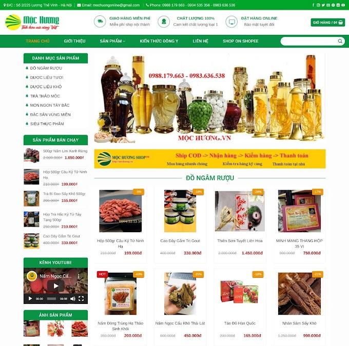 Website bán Sâm