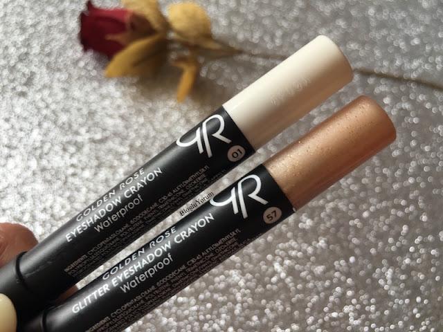 golden rose eyeshadow crayon waterproof 01 golden rose glitter eyeshadow crayon waterproof 57 swatches 2