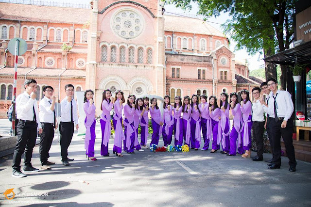 thuê áo dài học sinh