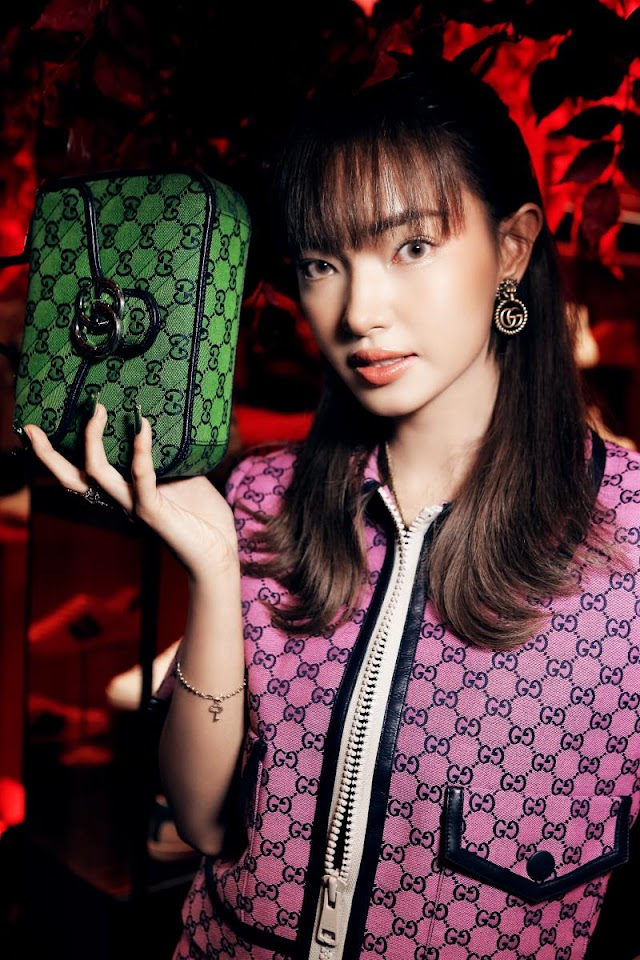 Amee lady of the stations in the launch of new collections of Gucci