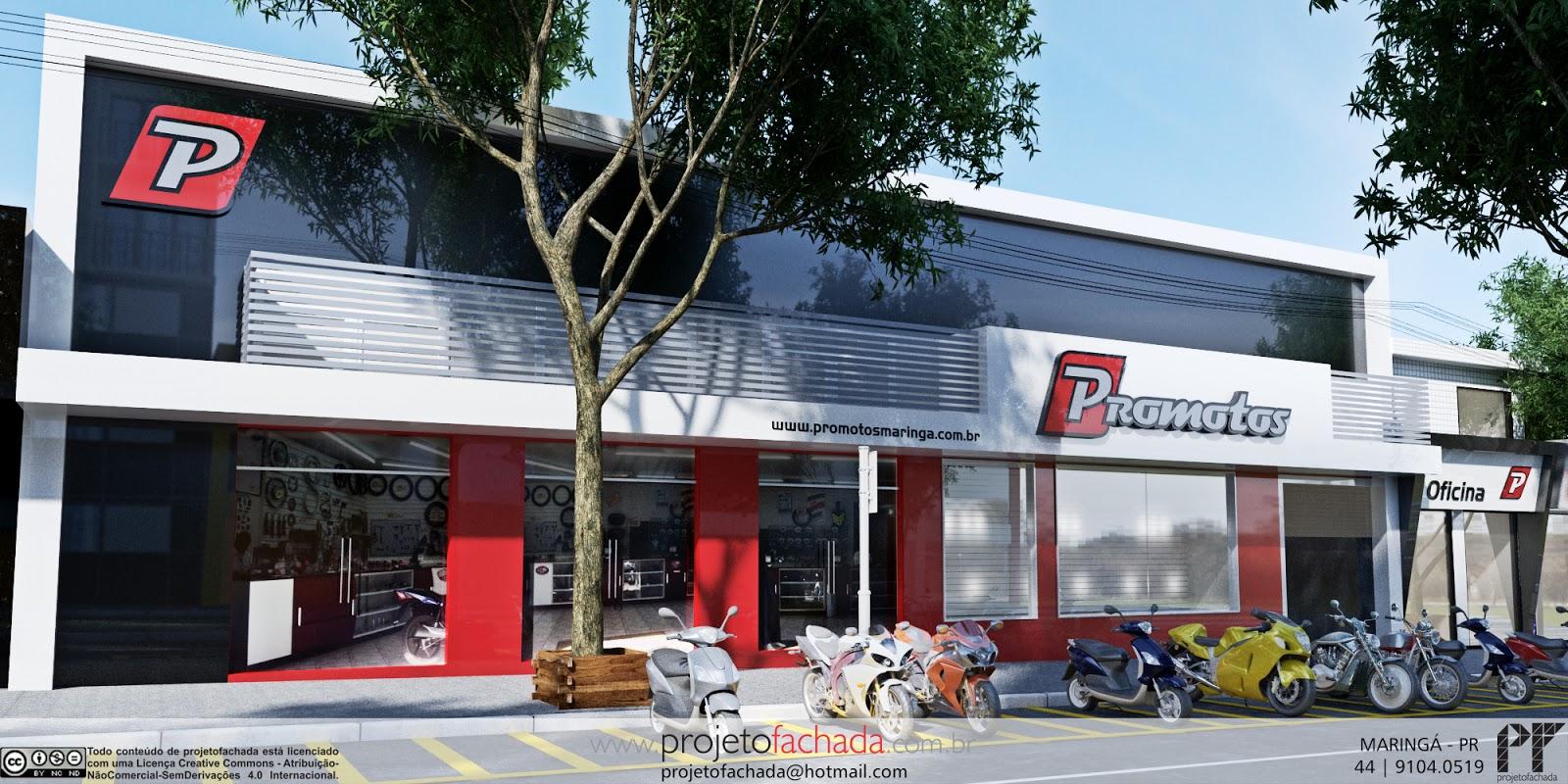 Projeto fachada comunica o visual 44 for Imagenes de fachadas de oficinas modernas