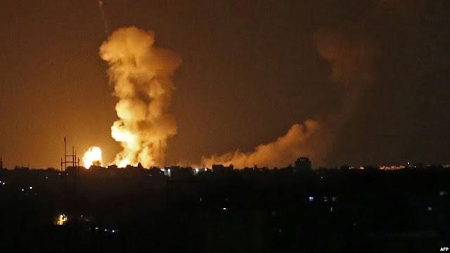 شهداء في قصف صهيوني مستمر على قطاع غزة و المقاومة الفلسطينية ترد