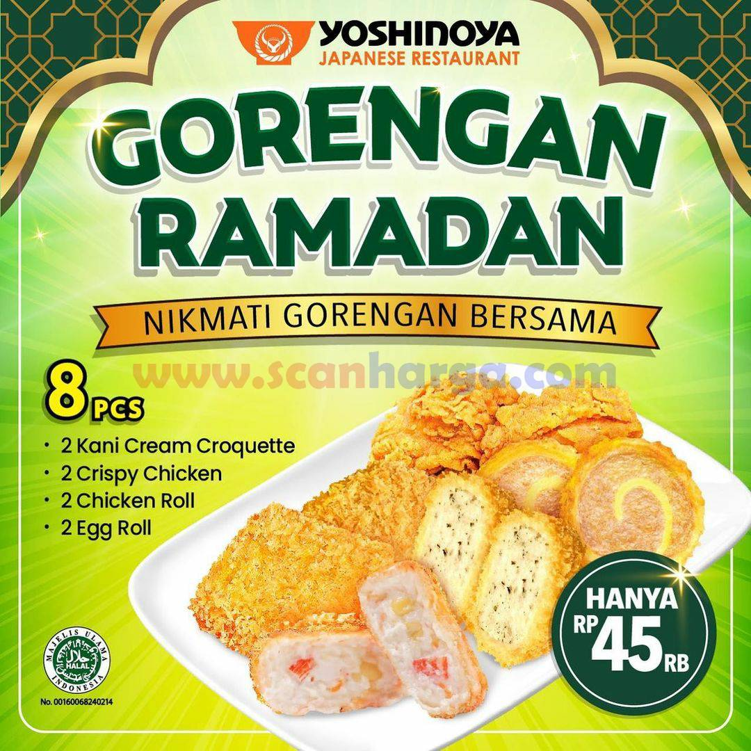 Yoshinoya Promo Gorengan Ramadan hanya Rp 45.000 per paket