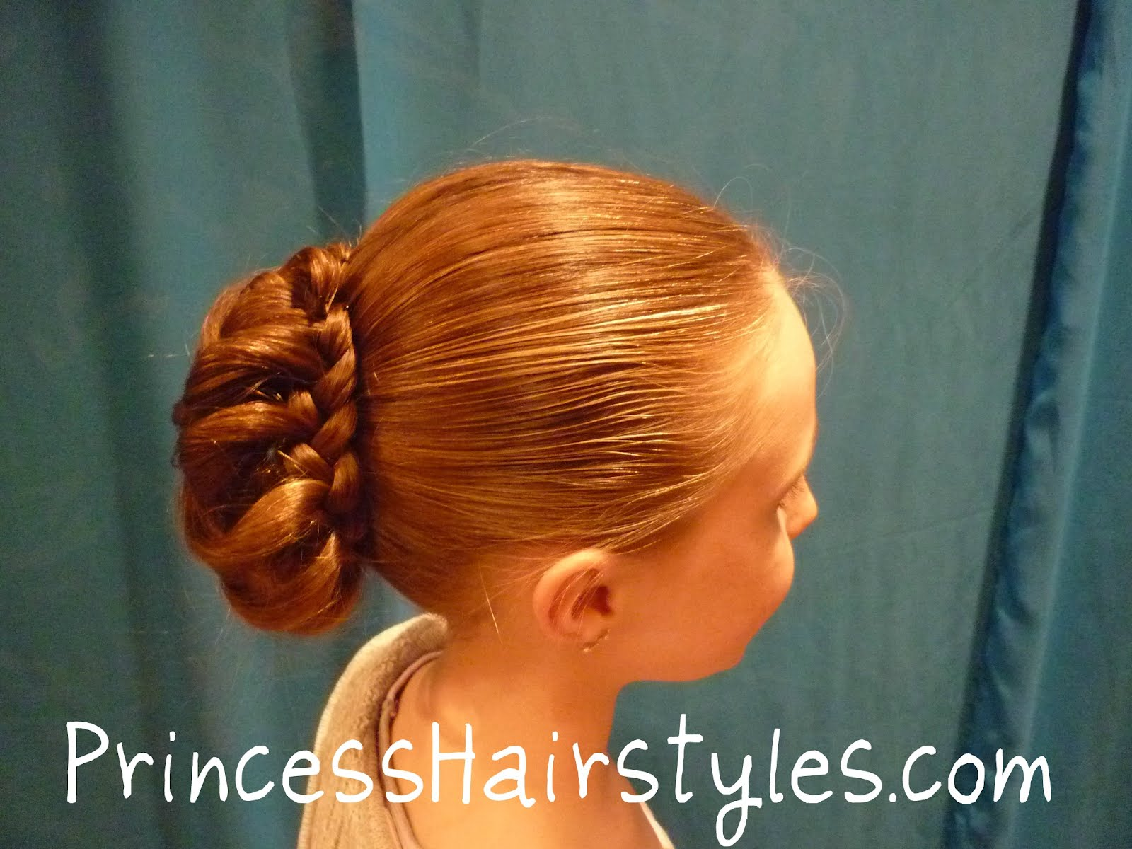 Braid Wrapped Bun Hairstyles For Girls Princess Hairstyles