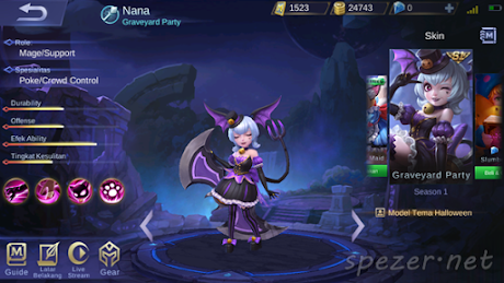 Nana - Graveyard Party - Skin Mobile Legends Season 1