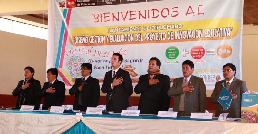 DRE Pasco, GORE y FONDEP realizaron lanzamiento de diplomado