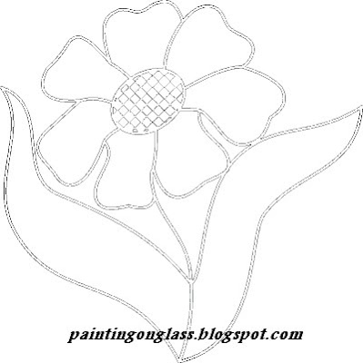 Flower Pattern Stained Glass