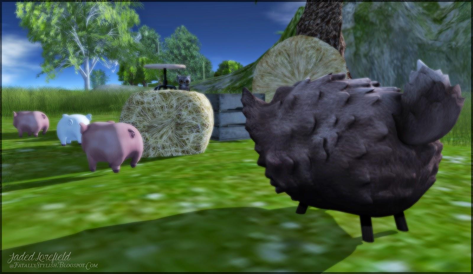Black Hair Blahblahblah Blue Eyes Close Cross Necklace: .Little Pig, Little Pig.