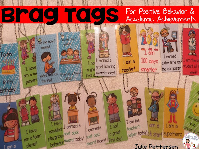Brags tags offer a great way to reward positive behaviors.