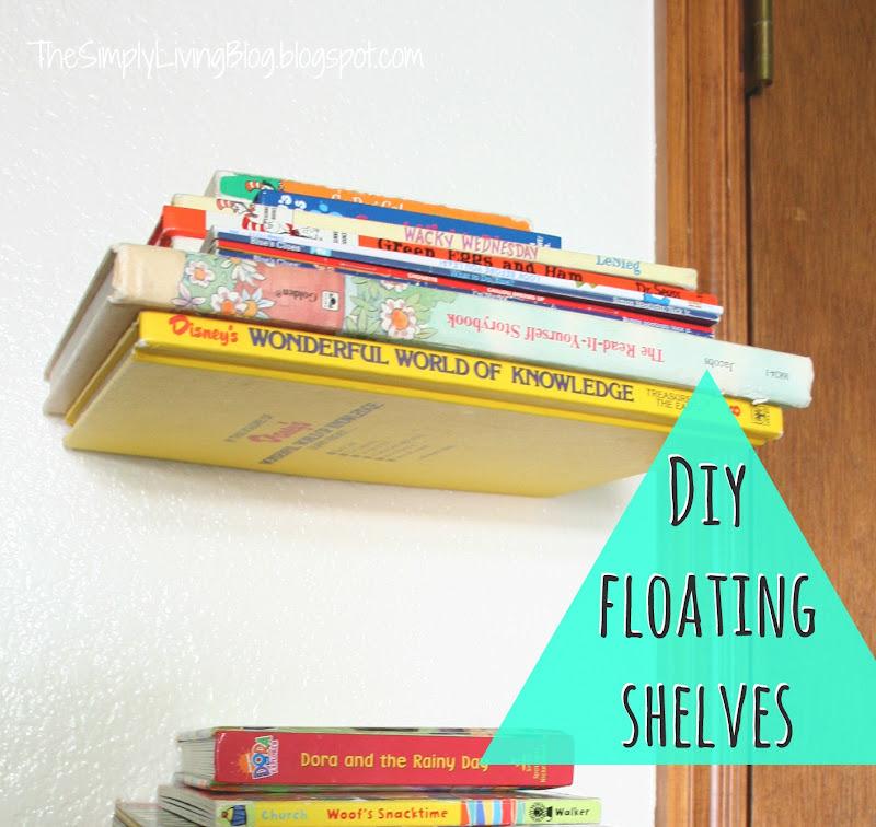 DIY Floating Shelves Books