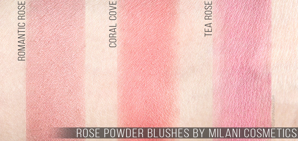 Rose Powder Blushers by Milani Cosmetics - Review & Swatches