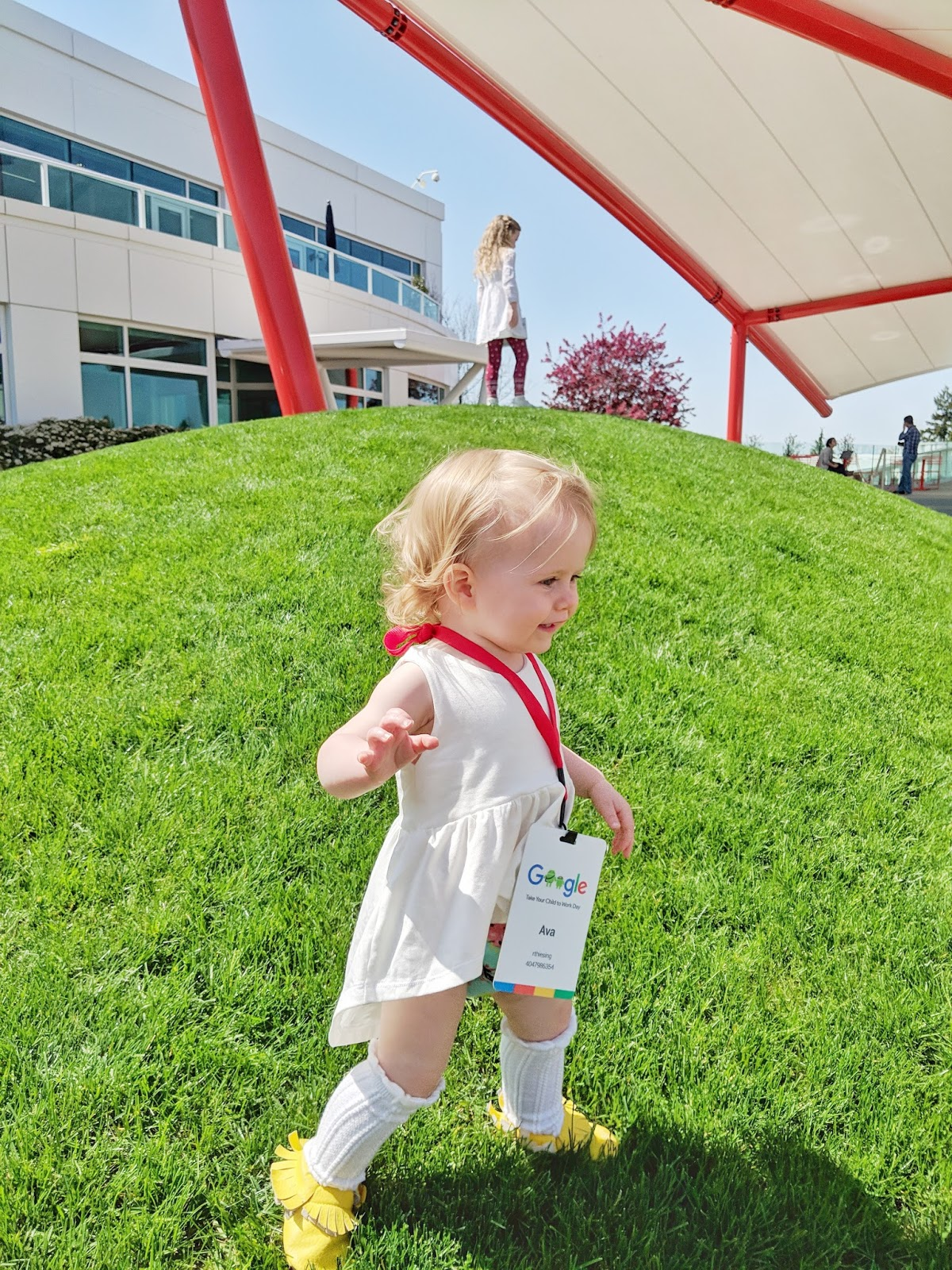 1 year old running in grass future leader googler google baby