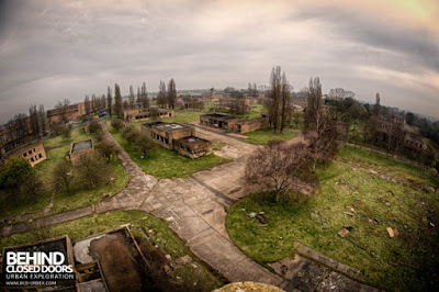 A view of the derelict RAF Upwood base from the water tower.  (From Behind Closed Doors website).