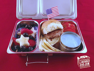 holiday red white and blue kids bento lunch planetbox