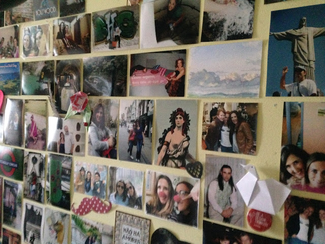 mural de fotografias