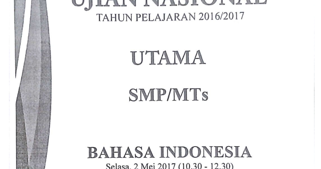 Soal Un 2017 2018 Bahasa Indonesia Smp Mts Prediksi Soal