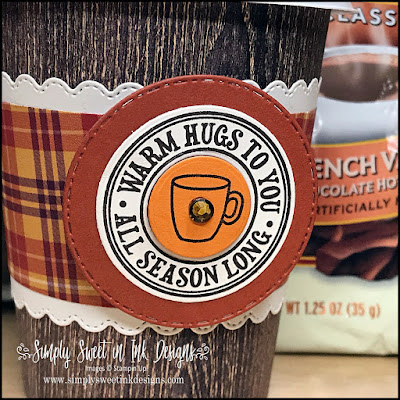 Fun Fall treat cup with the Warm Hugs bundle...part of the Heartwarming Hugs suite!