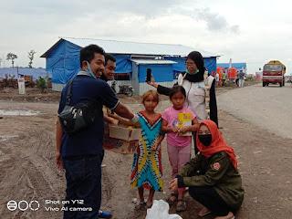 FTBM Sinjai Hadir Di Masamba Mengedukasi Anak Korban Banjir