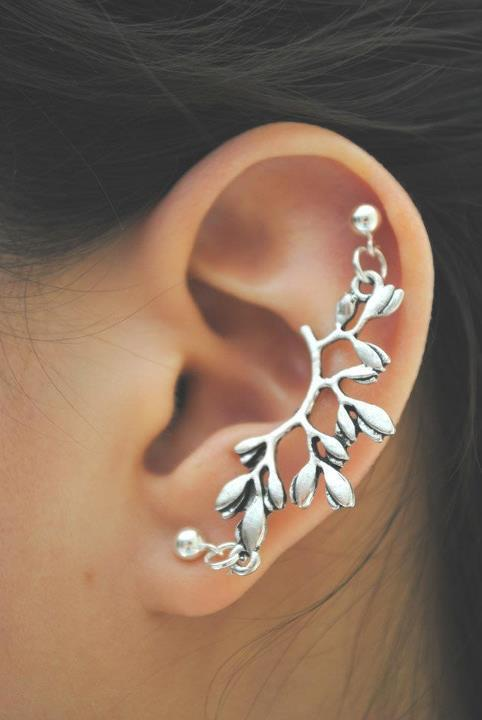 My beauty pill: love for cartilage earrings! Ear Piercing Jewelry