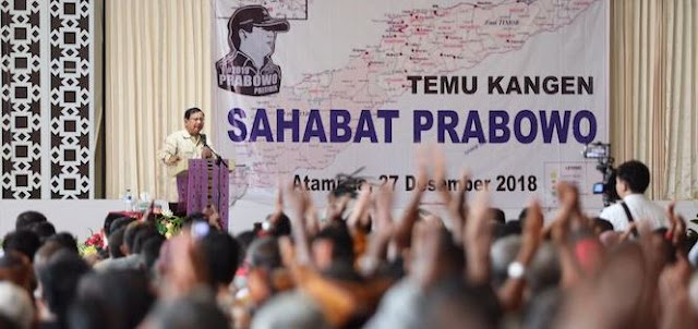 Temui Pejuang Timor Timor, Prabowo Tuding Elit di Jakarta Tak Peduli