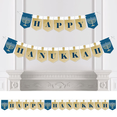 Hanukkah Party Bunting can be used for years.