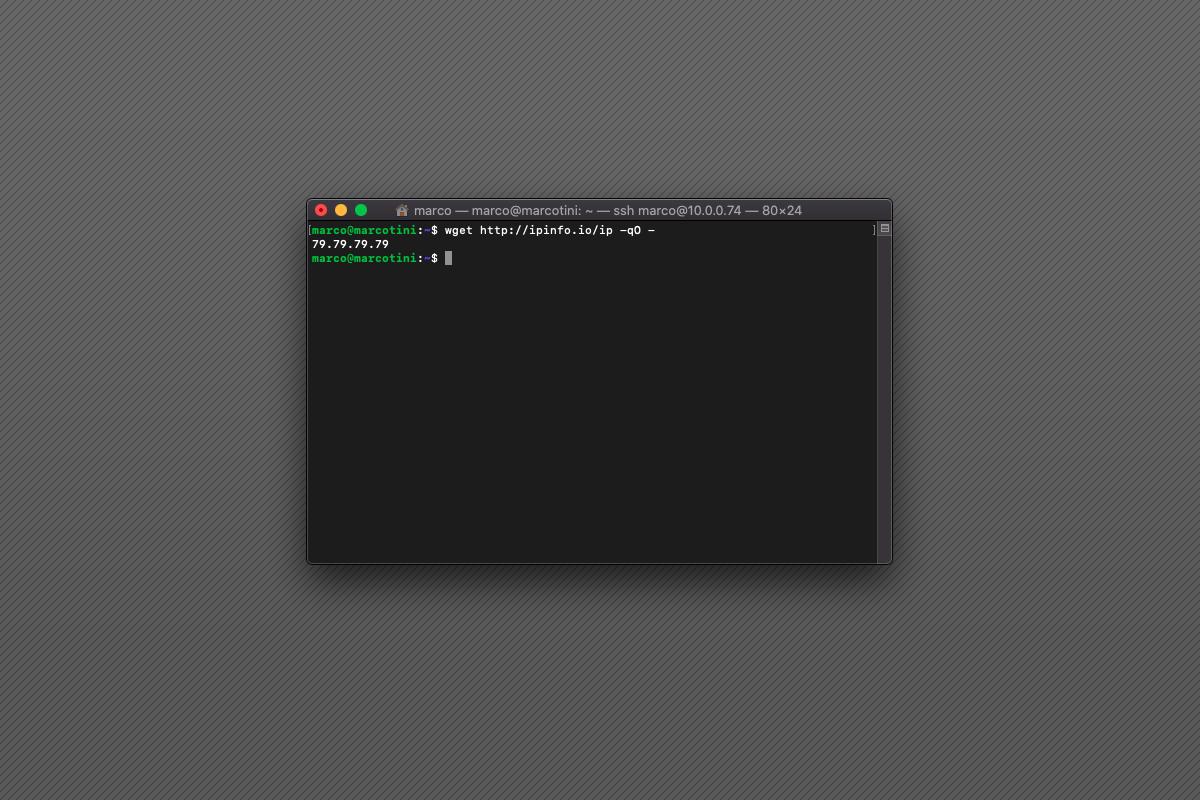 Come visualizzare l'IP pubblico da terminale
