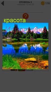 красивый пейзаж около озера 3 уровень 400+ слов 2