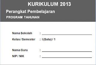Program Tahunan PAI SD Kelas 1 - 6 Kurikulum 2013