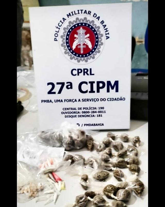 Policiais da 27ª CIPM apreendem drogas em Muritiba/BA