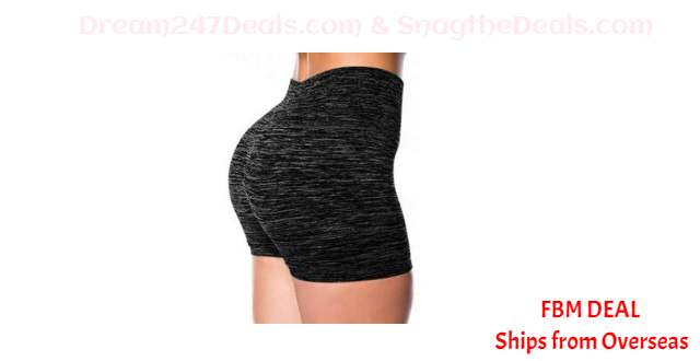 Watonic Women Basic Slip Bike Shorts, Workout Leggings, Yoga Capris 70% OFF
