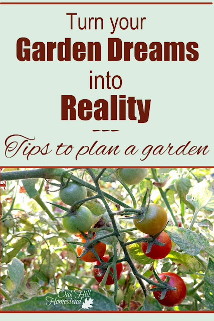Turn your garden dreams into reality - tips on planning a vegetable garden. #vegetablegarden #garden #gardening #growyourown #organic