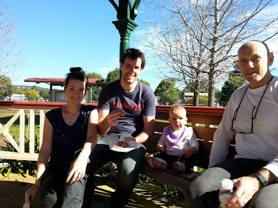 lunch in the gazebo at Donnybrook, WA