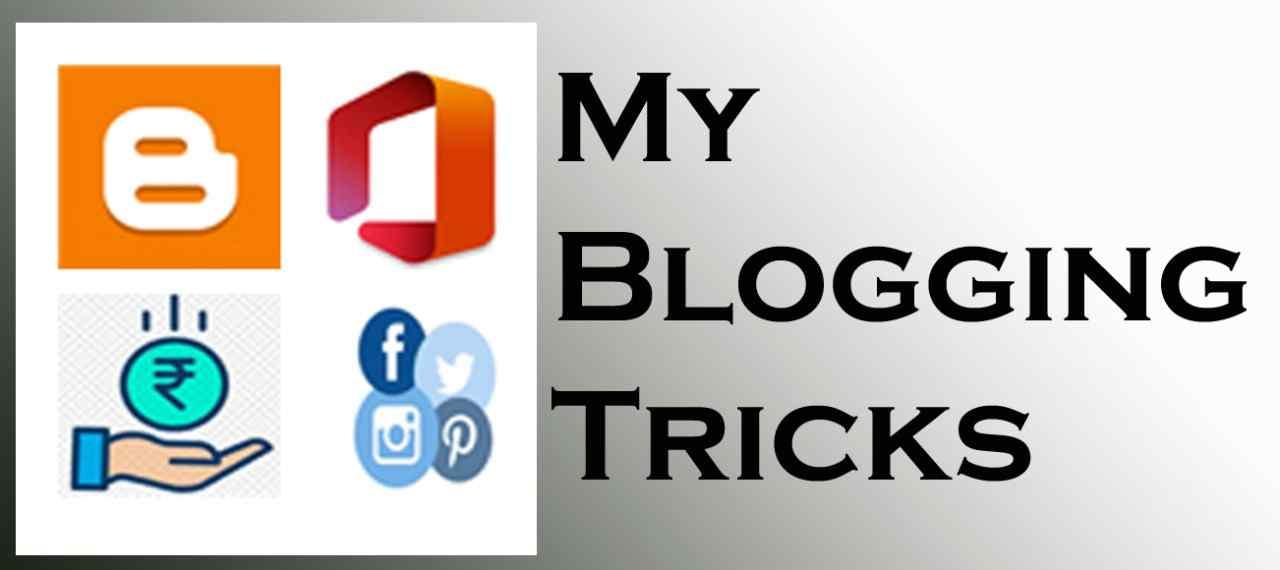 My Blogging Tricks