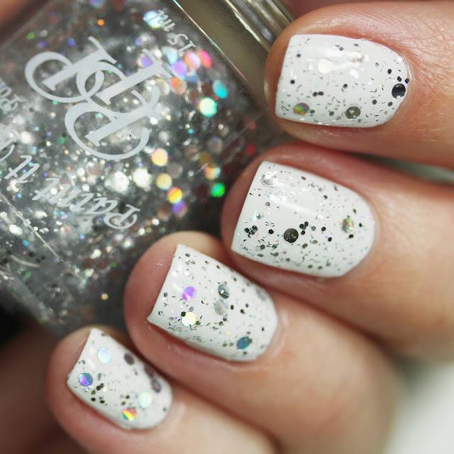circle holographic glitter nail polish