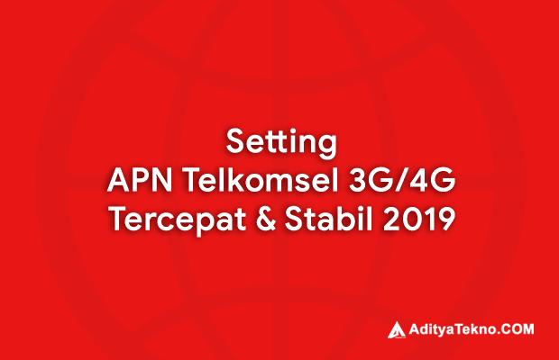 Cara Setting APN Telkomsel 4G Tercepat 2019