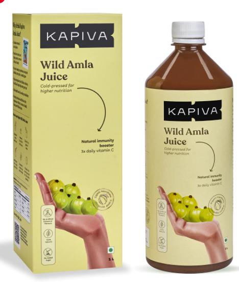Kapiva Wild Amla Juice - Cold-Pressed Amlas From Pratapgarh, Boosts Skin & Hair Health