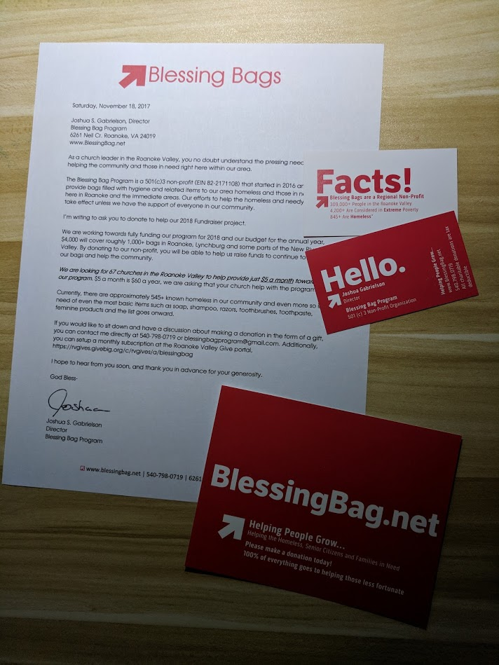 Churches that Help with Our Blessing Bags - Blessing Bags