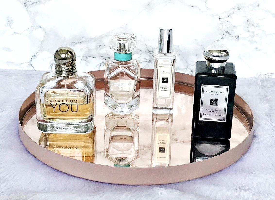 Jo Malone, Blackberry & Bay, Velvet Rose & Oud, Emporio Armani Because It's You, Tiffany, Perfume, Fragrance,