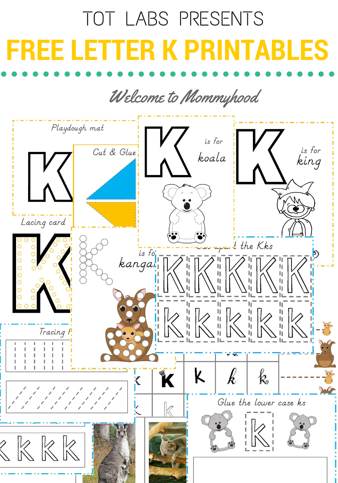 Welcome To Mommyhood Free Hands On Letter K Printables