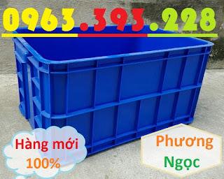 Thùng nhựa HS019 cao 31, thùng nhựa công nghiệp, thùng nhựa nguyên sinh, hộp nhựa có nắp