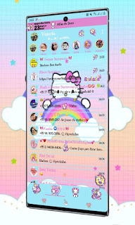 Rainbow & Hello Kitty Theme For YOWhatsApp & Fouad WhatsApp By Valéria