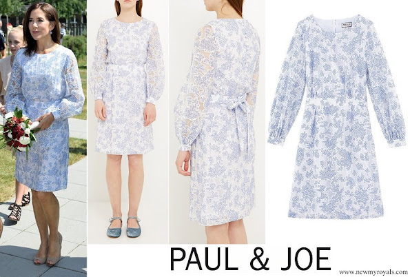 Crown Princess Mary wore Paul and Joe Voilage Dress