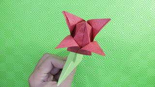 Hướng dẫn cách gấp hoa tulip bằng giấy đơn giản mà đẹp