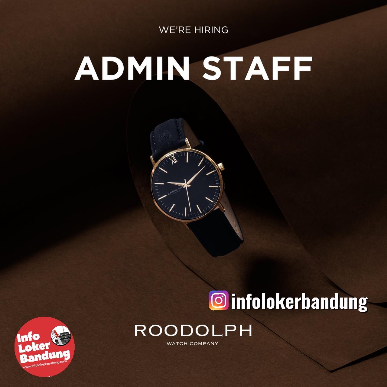 Lowongan Kerja Admin Staff PT. Roodolph Detik Abadi Bandung Februari 2020