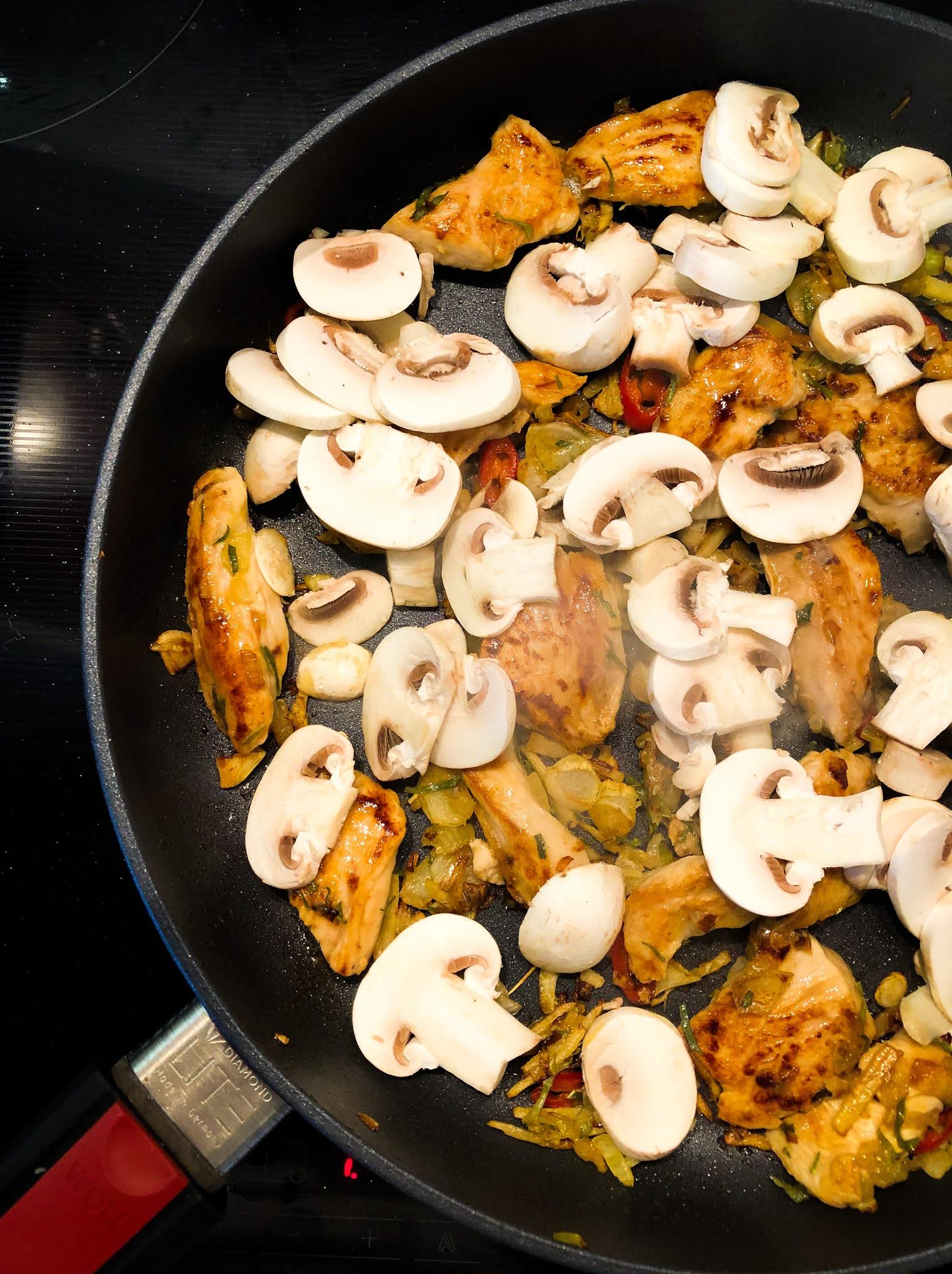 stir fry z kurczakiem