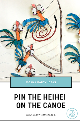 Pin the Heihei on the canoe party game